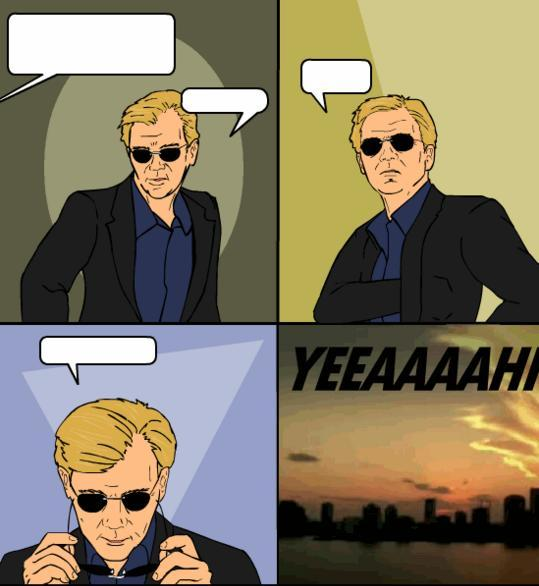 Was Horatio Caine's putting on sunglasses aka the ... Horatio Caine Double Sunglasses