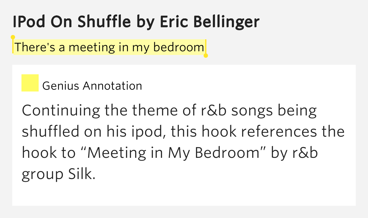 silk meeting in my bedroom lyrics there s a meeting in my bedroom ipod on shuffle by eric 20820
