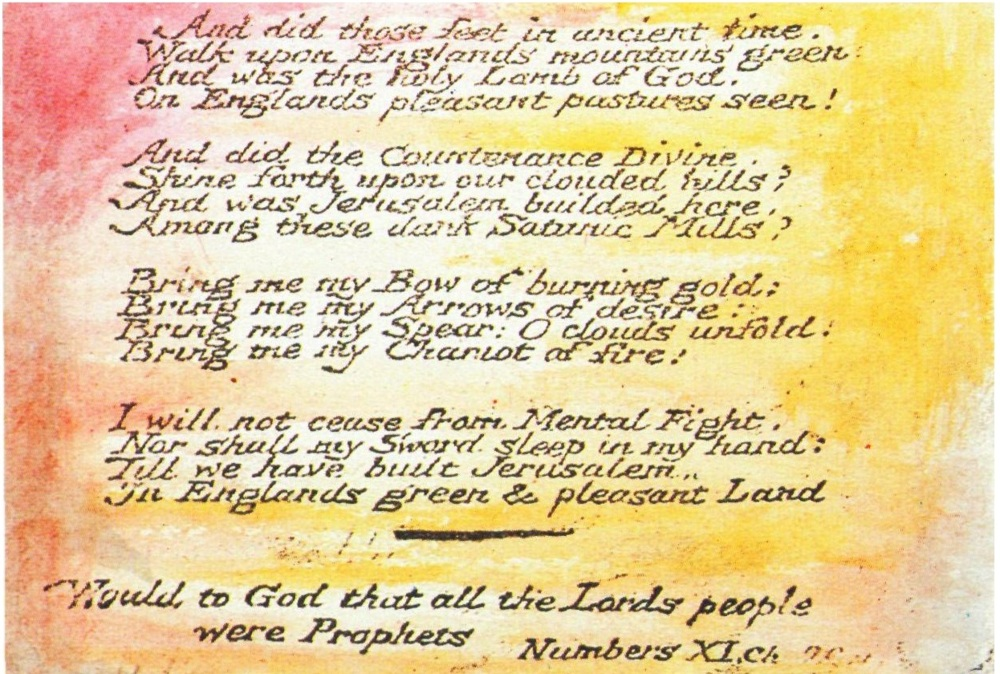 William Blake And Did Those Feet In Ancient Time Genius