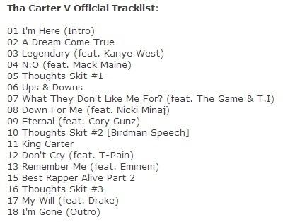 Carter v release date in Sydney