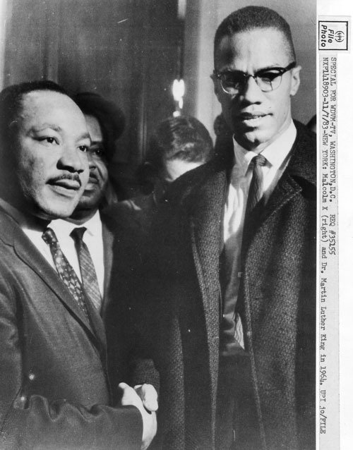 a comparison of martin luther king and malcolm x two african american icons Comparison and contrast outline: martin luther king and the comparison to hitler is effective because just malcolm x makes his african american audience feel.