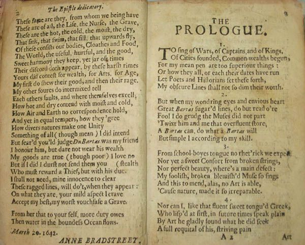 prologue anne bradstreet essay