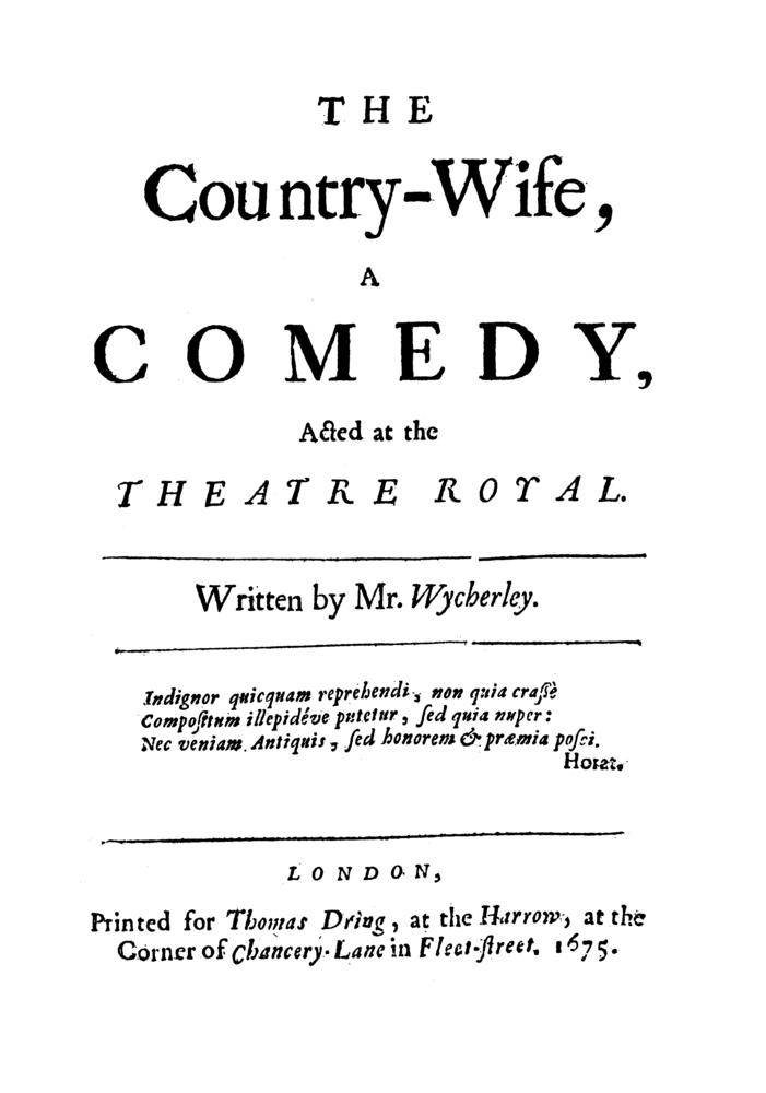 Lyric my country tis of thee lyrics : William Wycherley – The Country Wife (Act 1)   Genius