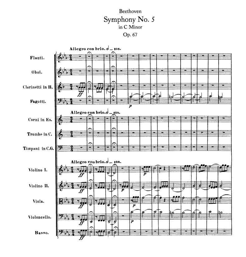 All Music Chords beethoven s 5th sheet music : Ludwig van Beethoven – Symphony No. 5 in C minor, Op. 67; 1st ...