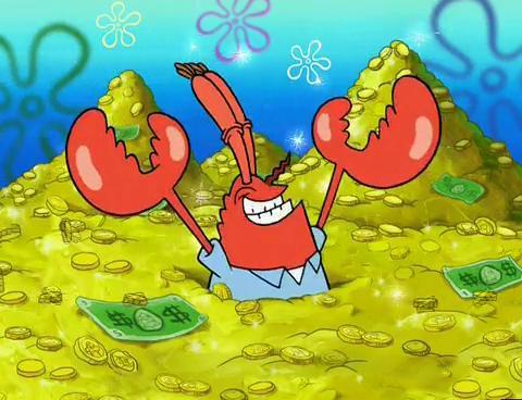 mr krabs geld
