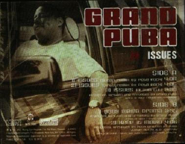 Cover art for Issues by Grand Puba