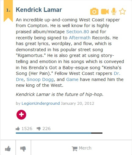 go to urban dictionary search your favorite rapper and post the