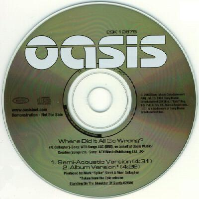 Cover art for Where Did It All Go Wrong? by Oasis